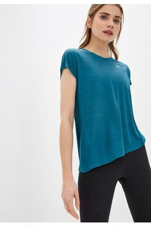 FOCA Reebok 藍綠色 不規則 機能 快乾 排汗 運動 健身 訓練 上衣 短袖上衣 T恤 罩衫 FK6756