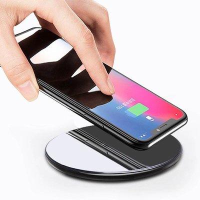 【支援快充!鋼化玻璃】鏡面無線充電器 QC3.0 手機無線充電器 無線快充 無線充電板 無線充電盤【A2305】