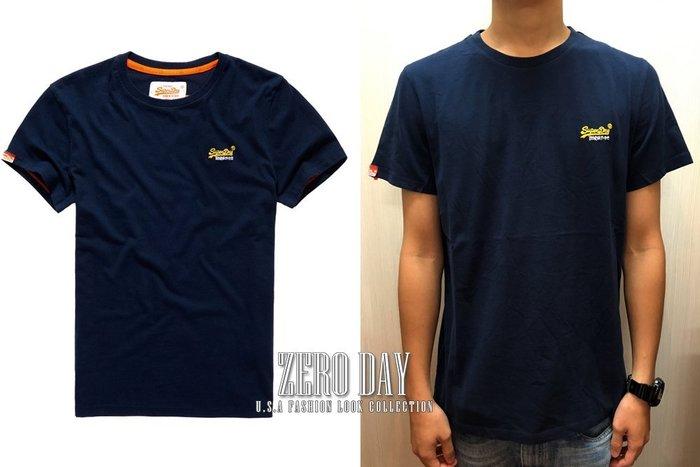 【零時差美國時尚網】英國Superdry極度乾燥真品Orange Label Vintage Embroidery素t藍
