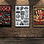 搖滾裝飾畫硬核樂隊標誌合集塗鴉波普Rock極...
