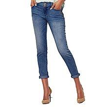 春款兩色雙扣拉鏈大彈力直筒牛仔褲女小直筒褲
