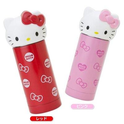 ~河馬家族~日本帶回_Hello Kitty可愛造型不鏽鋼保温保冷保溫瓶分售☆現貨