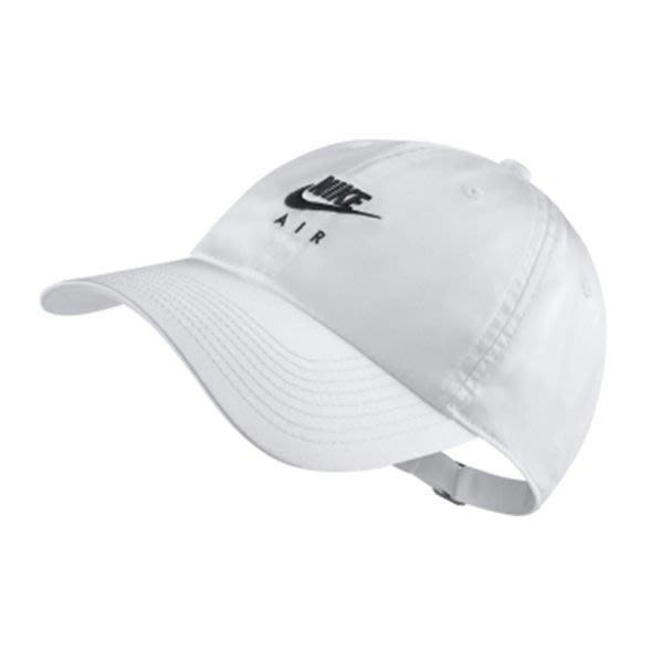 南◇2020 6月 NIKE NSW H86 NIKE AIR CAP 老帽 白色 小勾 可調 CI3613-100
