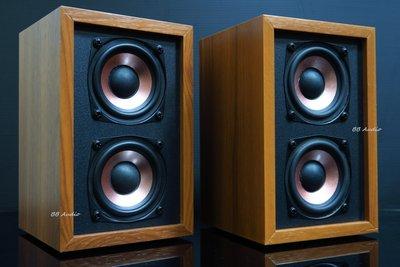 全新 2.5吋 雙單體發燒全音域喇叭音箱(音場寬闊/低頻顯著)一對2顆/桌上系統最愛!!