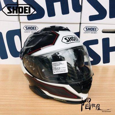 【帽牧屋】日本 SHOEI GT-AIR II BONAFIDE TC-5 全罩安全帽 公司貨 內墨片 透氣 黑/白