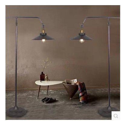 【優上精品】kc燈具LOFT美式工業長臂落地燈臥室臺燈 鐵藝復古釣魚燈(Z-P3100)