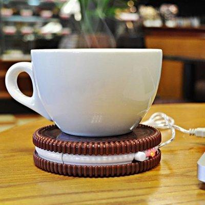 ✿生活館✿杯墊 英國Mustard USB動力餅幹造型保溫杯墊 創意現代白領辦公室水杯
