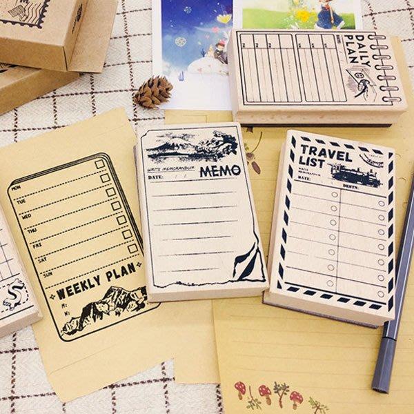 旅遊計劃系列手掌型木質印章(11.5*7*2.5cm)【JC3507】《Jami Honey》