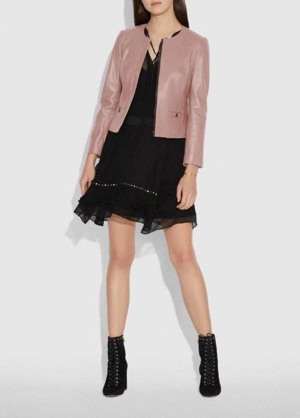 愛麗絲小舖~全新真品COACH 69019 Tailored Leather Jacket 皮衣 ~ 現貨0號