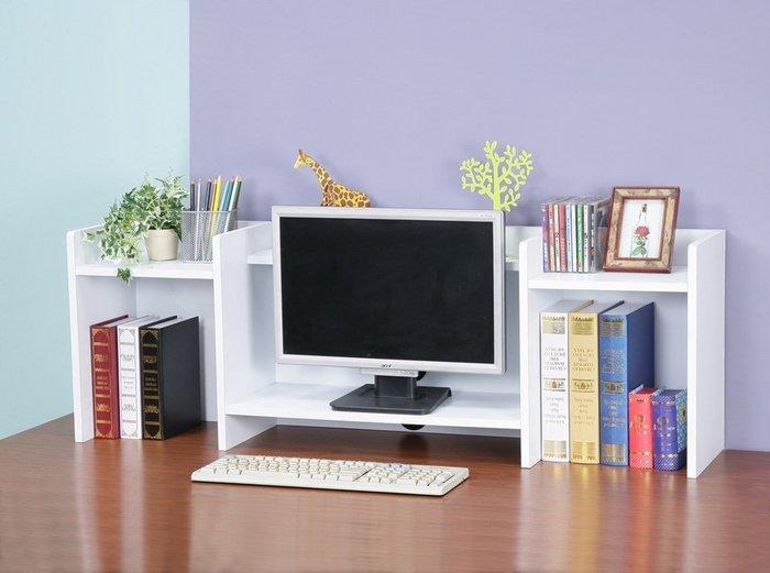 防潑水可疊式螢幕架 書架 桌上架  電腦桌 【馥葉】型號SH1124  可加購