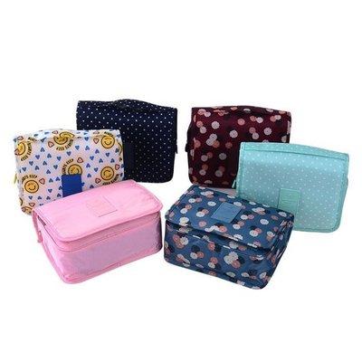 ❃彩虹小舖❃日式花樣加厚加大盥洗包 旅行收納包 有蓋防潑水加厚 旅行組 化妝包 洗漱包 旅遊多件組【N026】