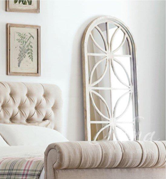 法式餐桌藝術 花框大型立鏡