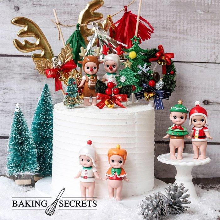 聖誕節系列丘比天使娃娃 烘焙蛋糕裝飾 擺件  聖誕節日裝飾 網紅蛋糕