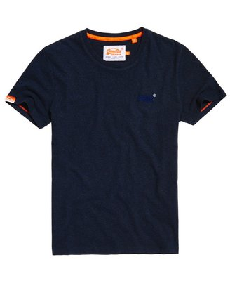 S.WET㊣現貨 極度乾燥 Superdry Orange Label T-shirt 短袖 T恤 上衣 素T 靛藍灰