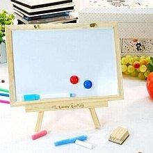 創意韓國迷你原木雙面小黑板白板 【安可居】