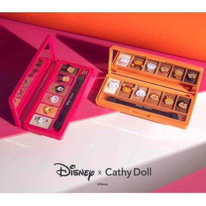 泰國 Cathy Doll X Disney Tsum Tsum 眼影盤 聯名 6色眼影盤 眼影 迪士尼