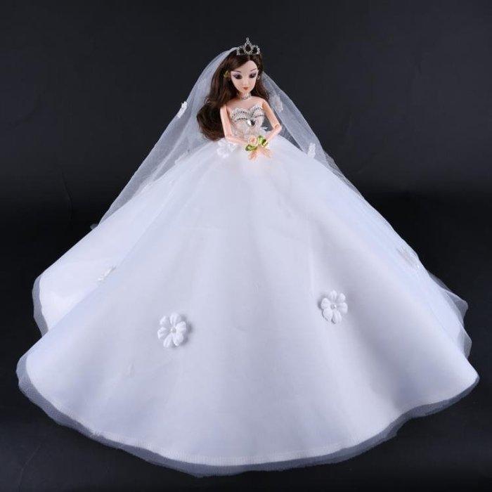 芭比娃娃芭比比娃娃套裝大裙擺仿真婚紗娃娃女孩公主閨蜜玩具娃娃兒童玩具