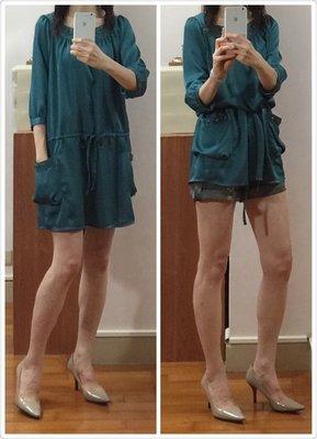 全新 日本品牌 千趣會 七分袖 長上衣/連身裙 特價$980含運 size:M