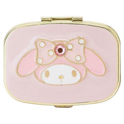 【唯愛 】16021800021 精緻飾品鏡盒-MM寶石粉 美樂蒂 三麗鷗 KIKI LALA 收納 飾品盒 鏡子