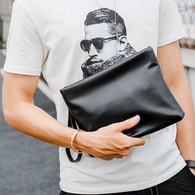 爆款熱賣-軟皮時尚男士手拿包 潮男簡單...