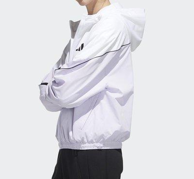 JC◉▽◉ ADIDAS FM9322 白紫色 女款 張鈞甯 防風 連帽 運動外套 現貨+代購 MD