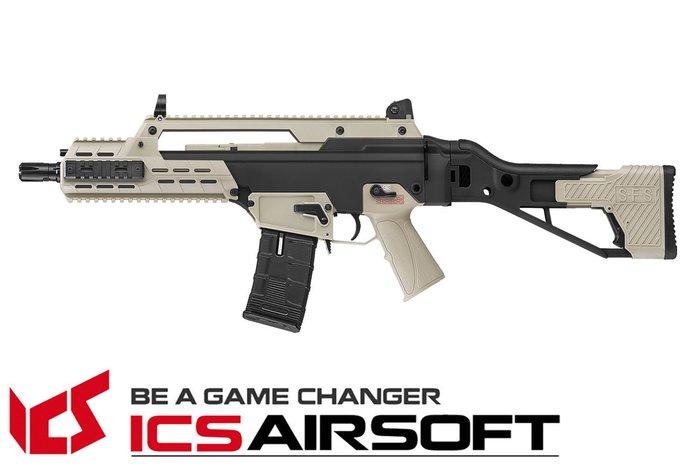 【翔準軍品AOG】ICS AAR SFS(雙色)狙擊折疊托 長槍 電動槍 步槍 生存遊戲 ICS-235