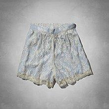 Maple麋鹿小舖 Abercrombie&Fitch * AF 藍色蕾絲繡花褲裙*( 現貨S/M號 )
