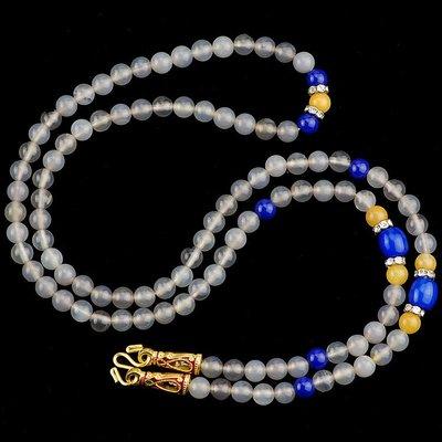 「還願佛牌」泰國 佛牌 鍊 鏈 串珠款 項鍊 單掛 經典灰瑪瑙