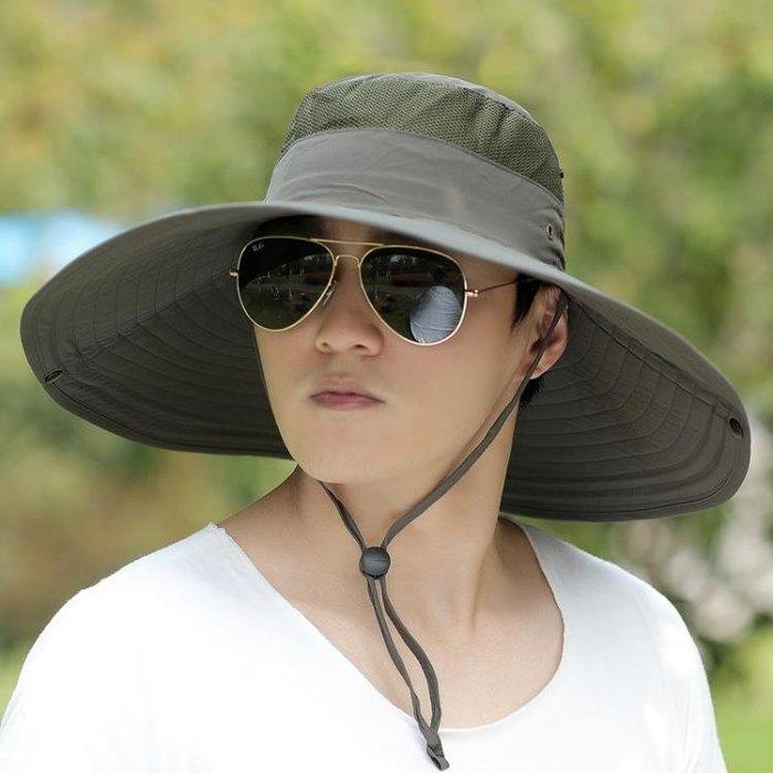 (低價衝量)戶外釣魚帽夏天太陽帽涼帽漁夫帽男士防曬遮陽正韓潮登山帽子
