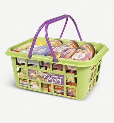 (預購)CASDON Food shopping basket toy set 超市購物提籃玩具組