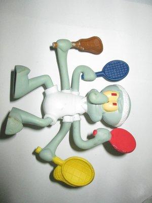 {1497}2012海綿寶寶的蟹老闆 (4隻手可以輕微上/下搖動)硬質塑膠玩偶/高約10公分(表面有使用磨擦與顏料痕跡、