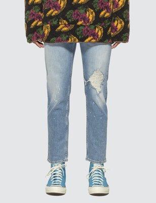 Acne Studios River Blue Destroyed Jeans 義大利製 淺藍破壞牛仔褲 九分褲 長褲