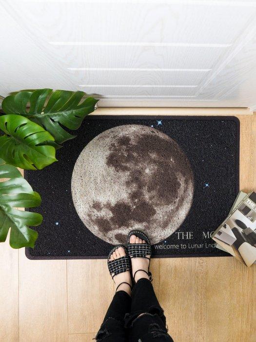 現代簡約月球地墊進門絲圈地毯門廳入戶門口玄關蹭土腳墊門墊
