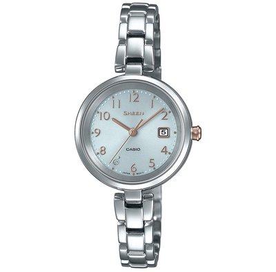 日本正版 CASIO 卡西歐 SHEEN SHS-D200D-7AJF 女錶 女用 手錶 太陽能充電 日本代購