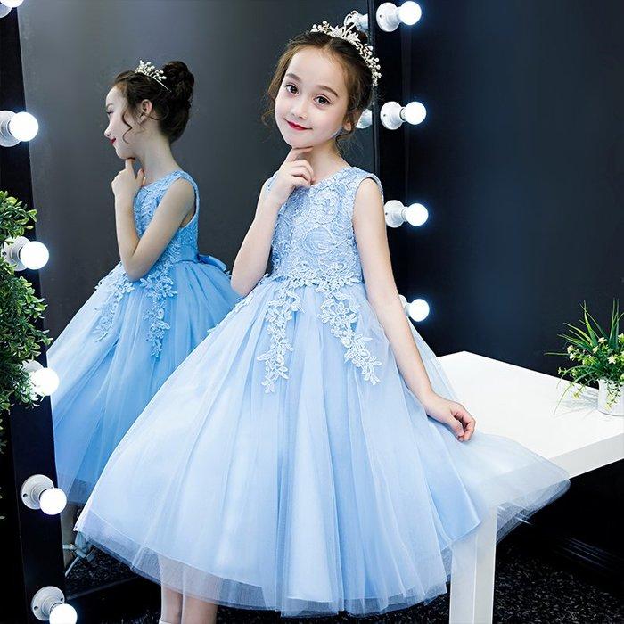 公主裙女童蓬蓬紗花童婚紗小女孩生日超仙走秀洋氣兒童晚禮服高貴夏季新款禮服超仙唯美公主裙