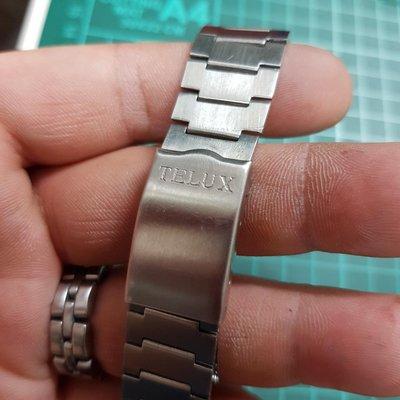 TELUX 18mm 不銹鋼 錶帶 另有 SEKIO Rolex ETA OMEGA  IWC CK 機械錶 老錶 潛水錶 水鬼錶 D04