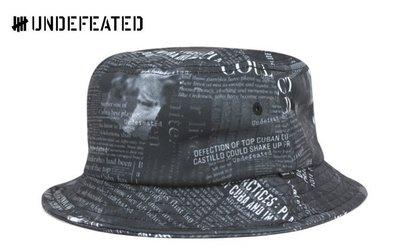 【超搶手】 全新正品 2015 最新 UNDEFEATED HEADLINE BUCKET HAT 滿板 漁夫帽 黑色