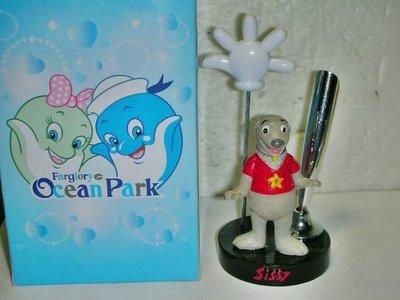 L.(企業寶寶玩偶娃娃)全新附盒farglory ocean park遠雄海洋公園Sissy熊公仔留言夾/筆架!