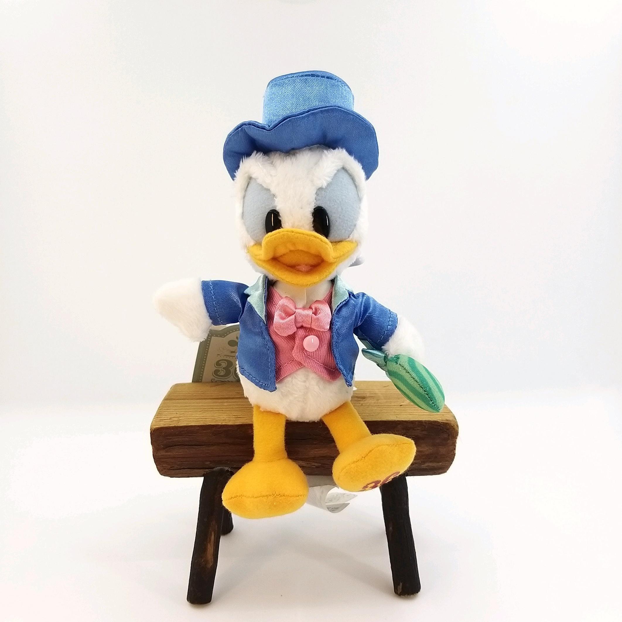 日本迪士尼Store限定商品 唐老鴨公仔36週年紀念版鑰匙圈吊飾