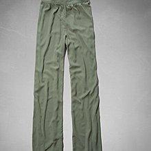 Maple麋鹿小舖 Abercrombie&Fitch * AF 綠色休閒喇叭寬褲 * ( 現貨S號 )