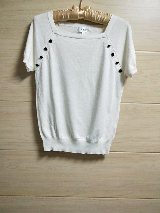 丹丹衣坊--AZUR品牌米色海軍風針織衫
