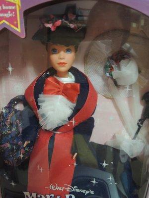 Mary Poppins Barbie 歡樂滿人間芭比 神仙保母可換裝 附傘 絕版全新未拆