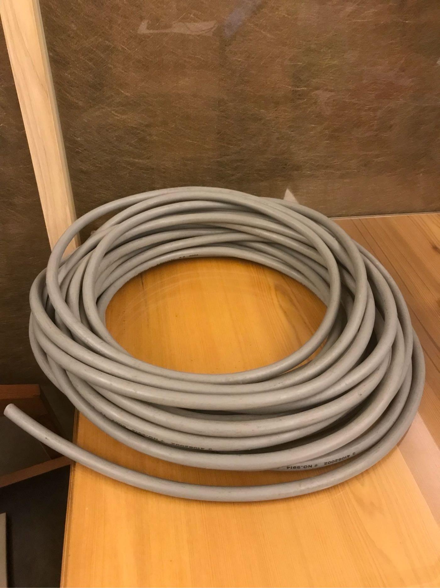 近全新 億泰 灰色電纜線 3.5mm平方X3C VV 600V 3芯 電線 電源線 1米 電料 零賣