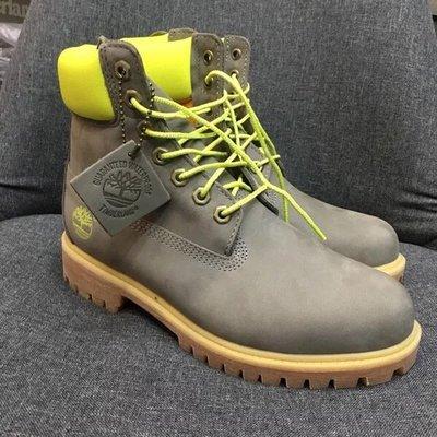 Timberland/添柏嵐限量版超級6英吋灰色靴時尚繫帶戶外工裝靴 灰色 39-44碼