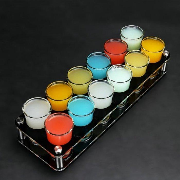 酒吧傳奇 12頭優質雙層亞克力子彈杯架 一口杯架 十二頭子彈架