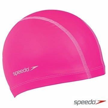 【線上體育】SPEEDO成人 合成泳帽 Pace 粉紅