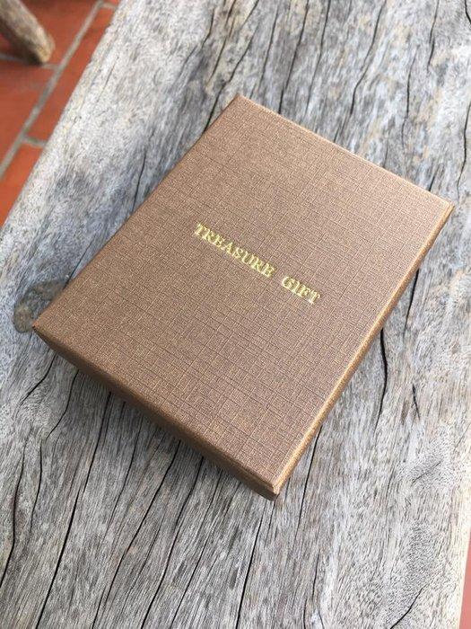 【9*7公分湖水藍 咖啡金紙盒】 可放御守、項鍊、手鍊、別針 耳環 【 ROSE手工飾品J0603】