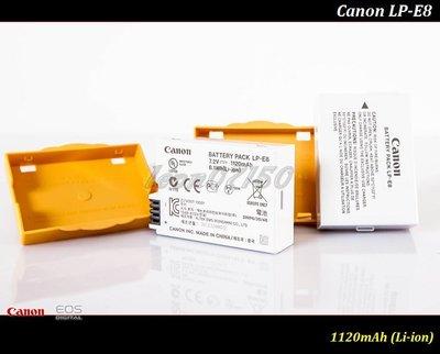 【限量促銷 】全新原廠公司貨Canon LP-E8鋰電池LPE8/LC-E8/550D/600D/650D/700D