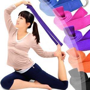 哪裡買有氧瑜珈伸展帶D134-ZH02專業瑜珈帶韻律帶拉筋帶拉力繩支撐帶拉力器拉力帶瑜珈拉力輔助繩雙環皮帶帆布腰帶