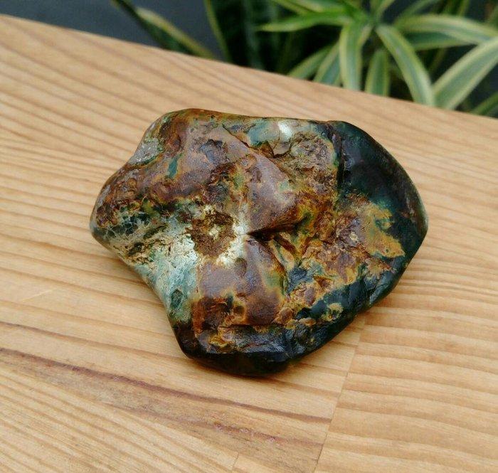 老珍藏天然花東玉石虎皮玉原礦擺件把玩件/重約80公克,天然三便宜出清彩紋路非常漂亮,珍藏品